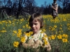 Kerri in a field of flowers in Bandelier