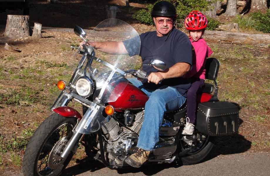 Photo of the Week: Sydney's First Ride on a Motorcycle