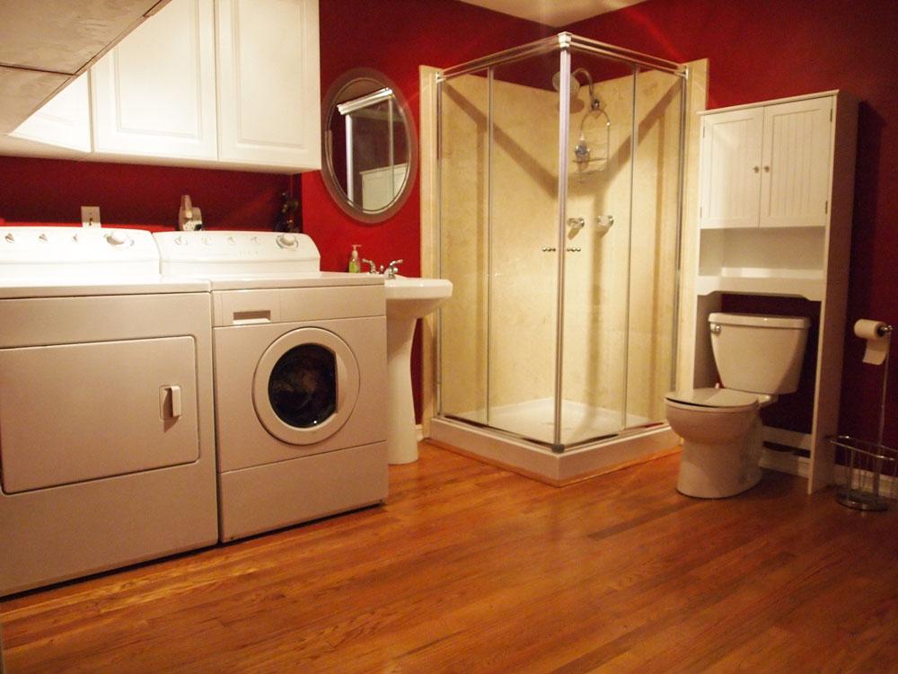 Laundry room and bathroom