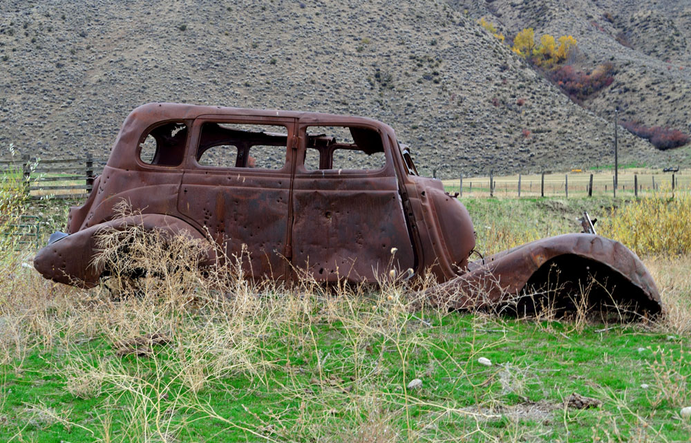 Rusty Car in Idaho