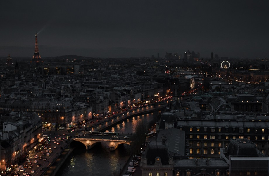 Photo of the Week: View From the Top of Notre Dame at Night