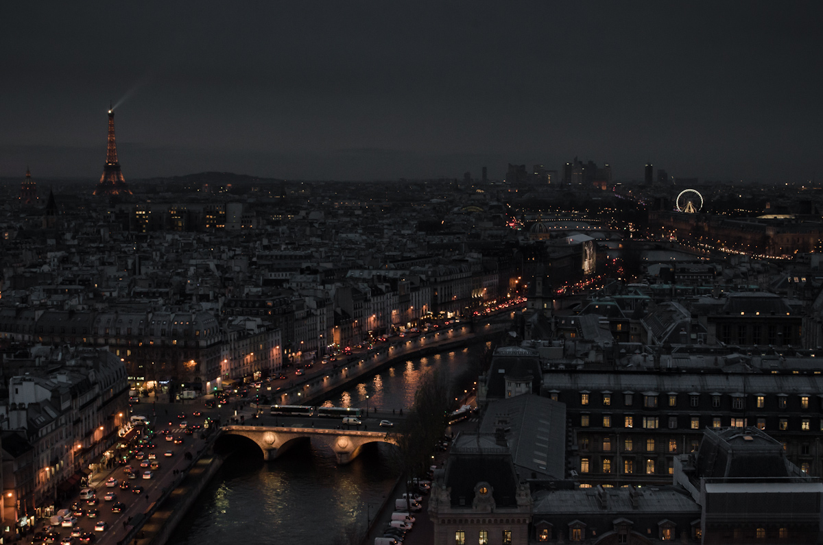 Paris at Night from Notre Dame