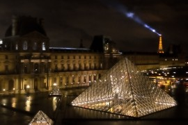 View from Louvre at Night