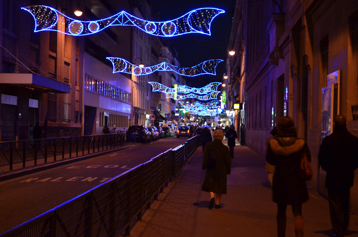 Rue Cler with Christmas Lights
