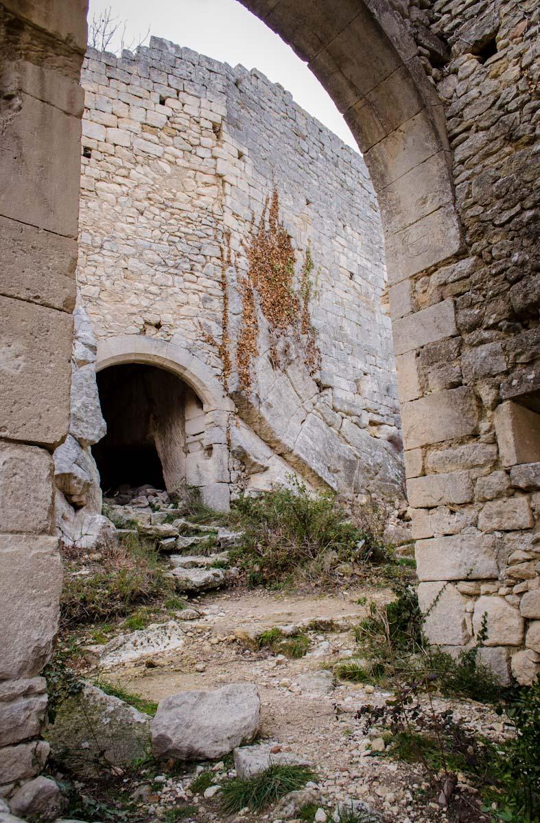 Castle ruin in Oppède le Vieux