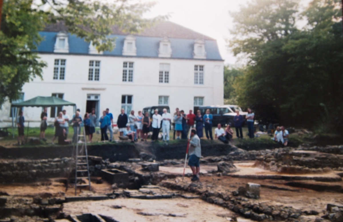 Start of excavation in France where the knight was found.