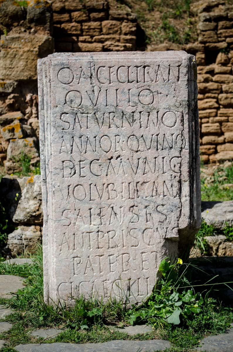 Stone with Latin writing