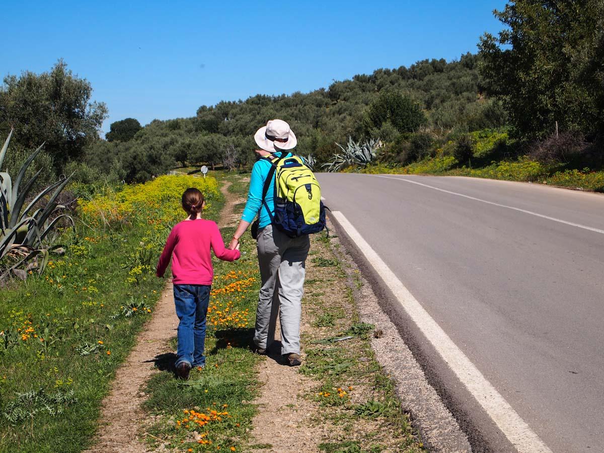 Walking to Volubilis