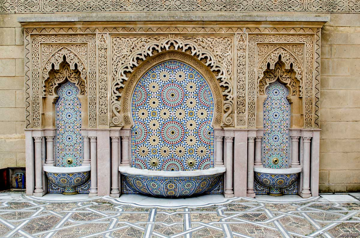 Fountain outside the Mausoleum of Muhammad the V