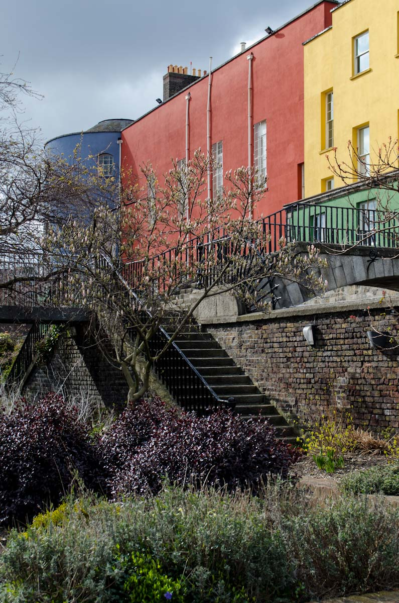 Colorful buildings in Dublin