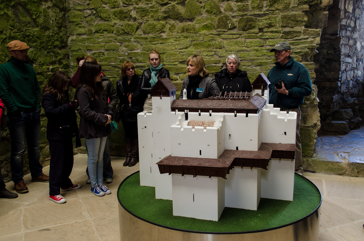 A model of what Castle Trim once looked like