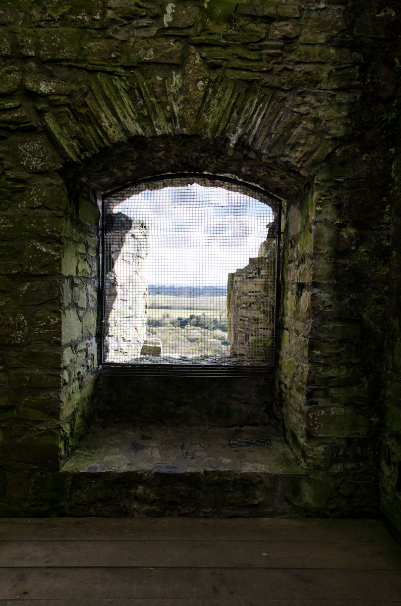 The window that a boy was thrown out of in a scene from Braveheart