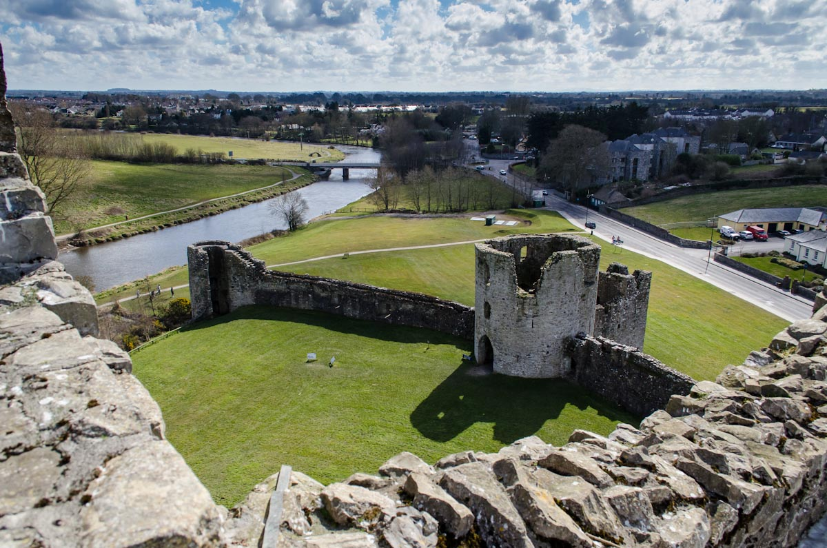 View from the top of Trim Castle