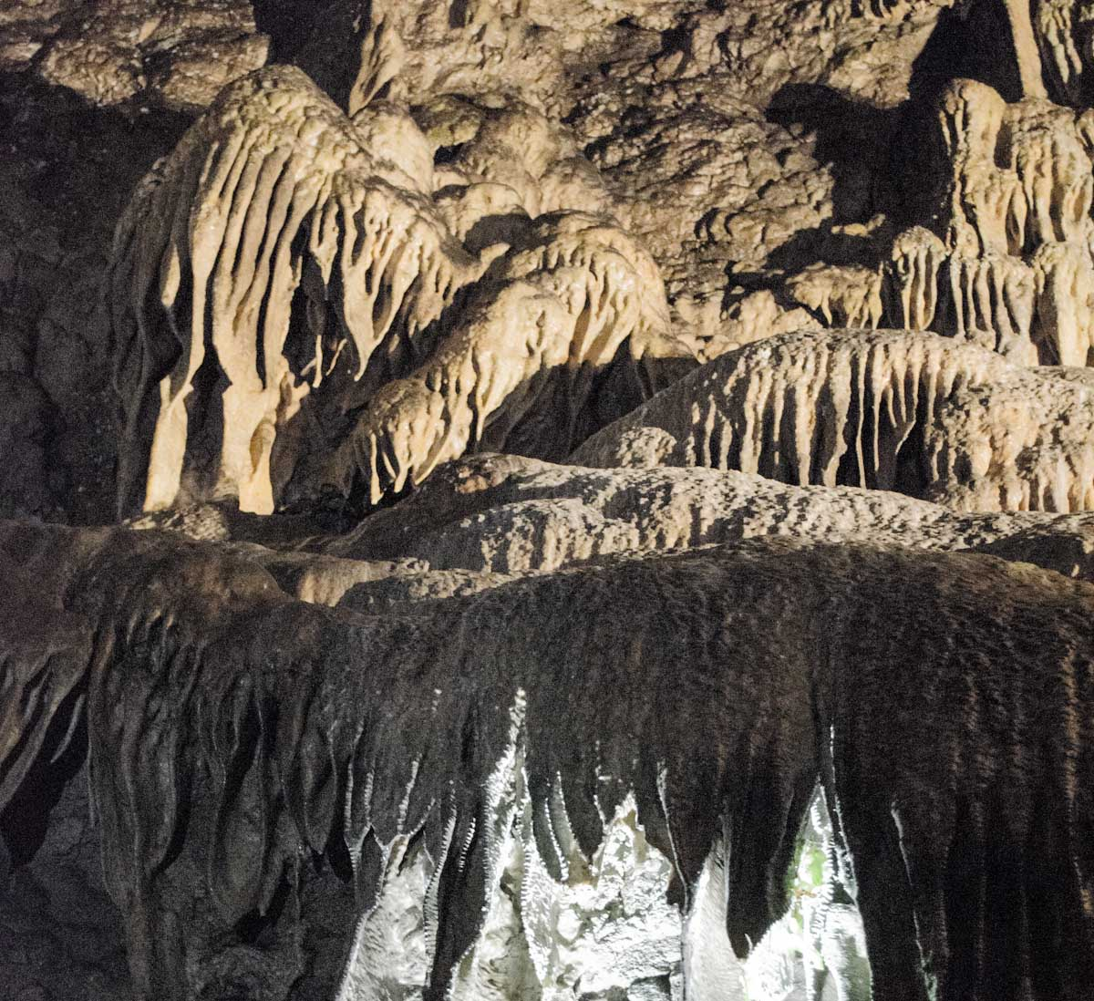 Stalactite formations of Dunmore cave