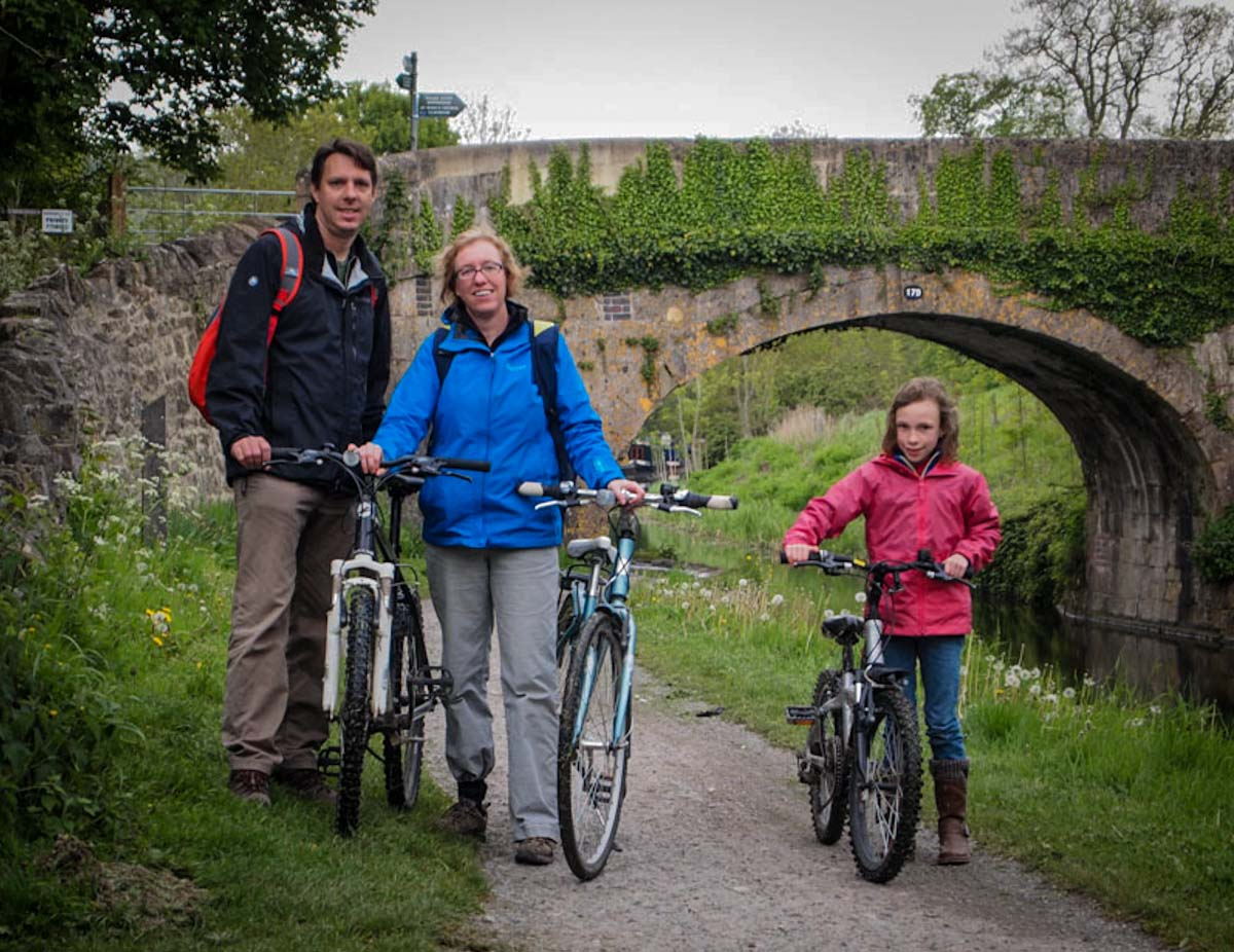 Riding Bikes along the Canal