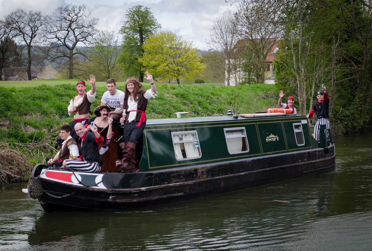 Pirates along the canal