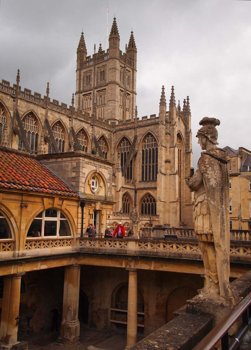 Roman Baths with view of Bath Abby