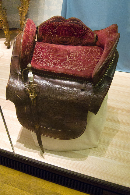 Medieval side saddle picture by Quinet