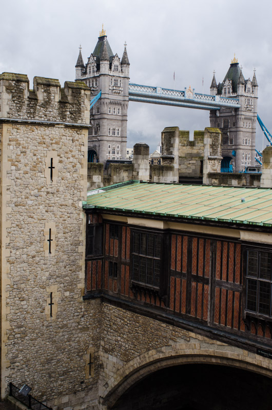 Tower of London with Tower Bridge