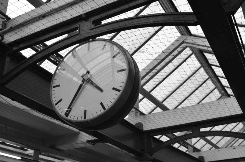Clock at London Underground Station