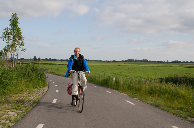 Biking outside Amsterdam