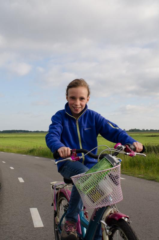 Biking outside Amsterdam
