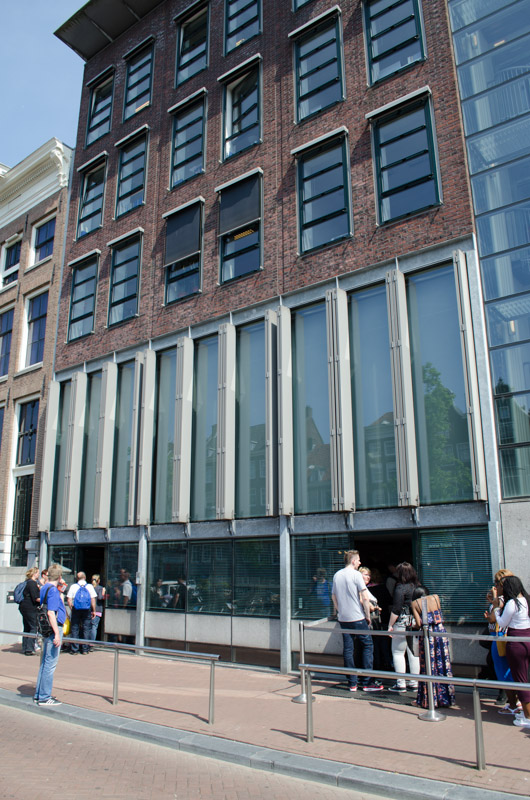 Outside the Anne Frank House
