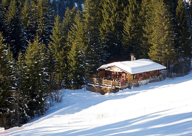 Après-Ski hut in Germany. Photo by Nataraj Metz