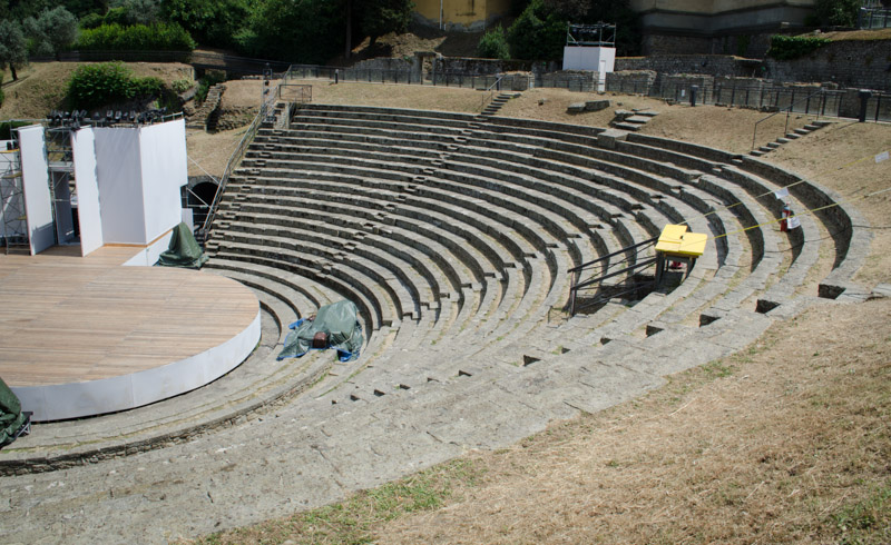 Amphitheater at Fiesole.  They Still Use It Today.