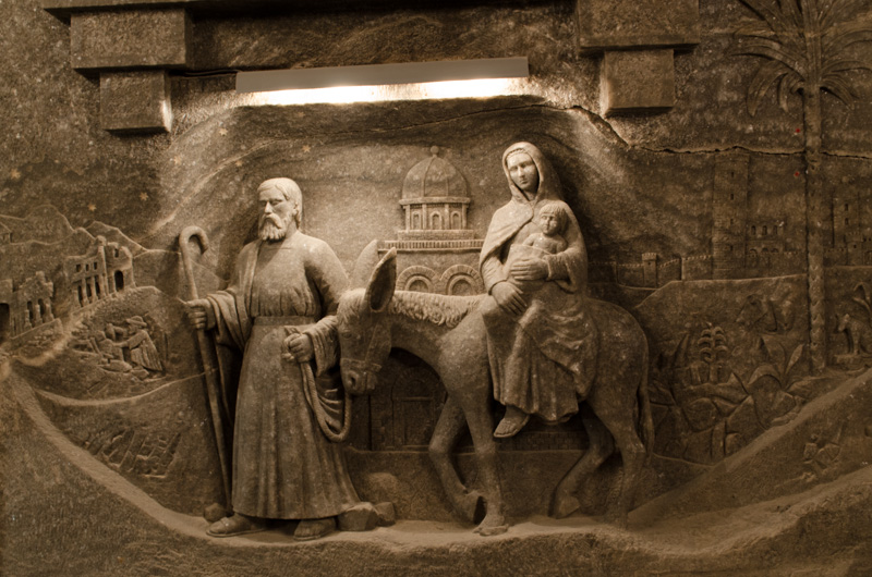 Mary and Joseph.  Kinga Cathedral