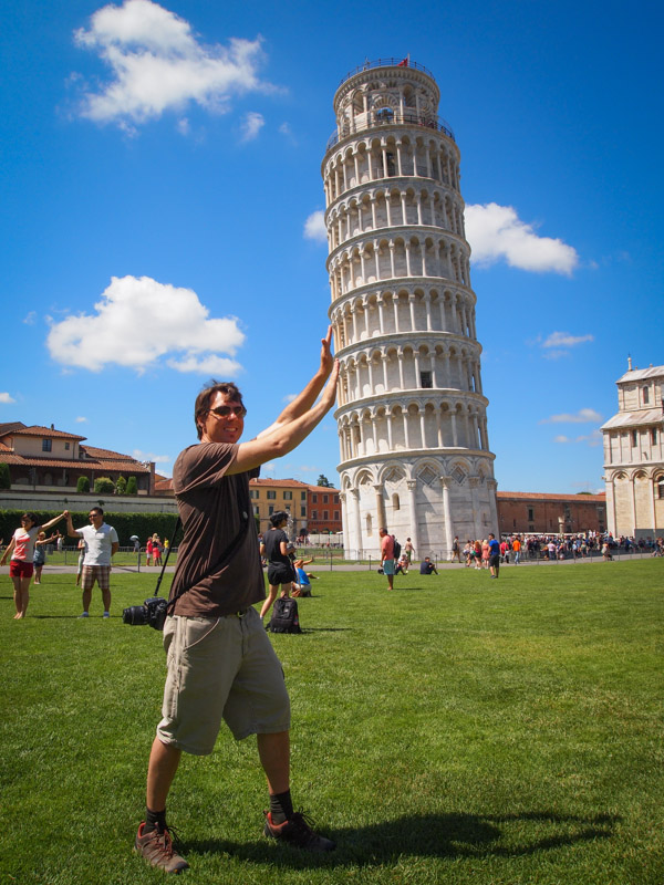 Jason Holding Up the Leaning Tower of Pisa