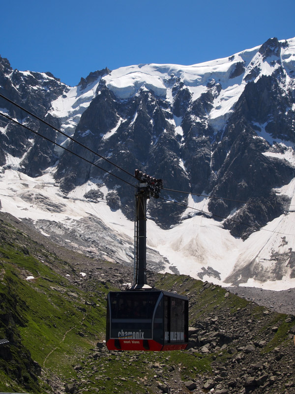 Cable Care with Mt Blanc in the background