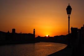 Tuscan sunset over Pisa