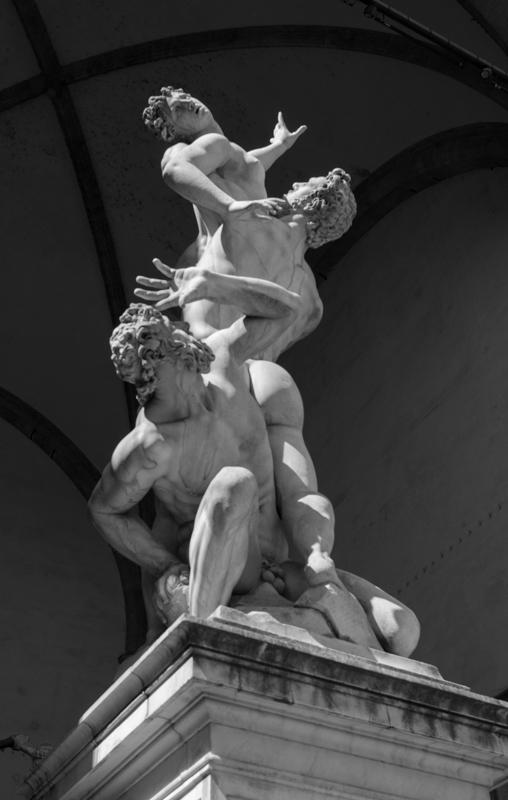The Rape of Sabine outside the Vecchio
