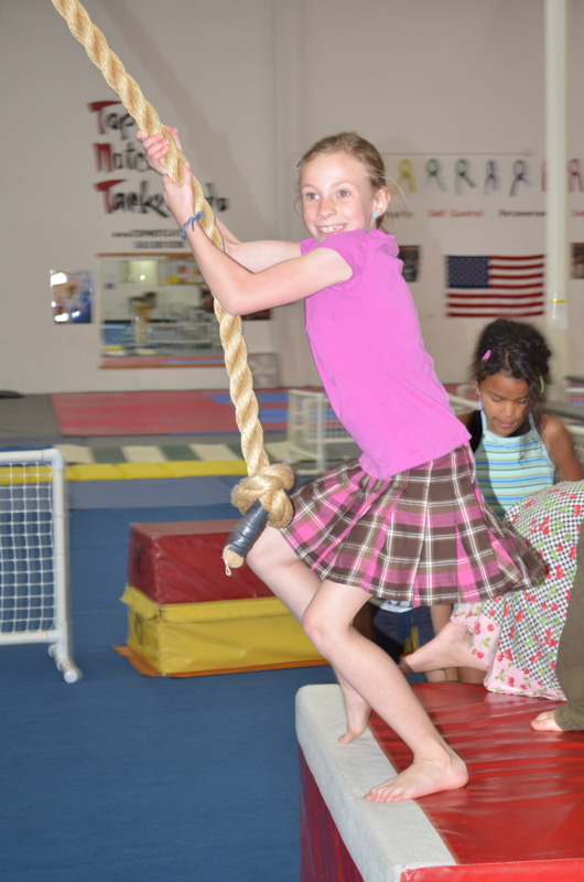 The Gymnastic Place - Sydney Swinging on the Rope