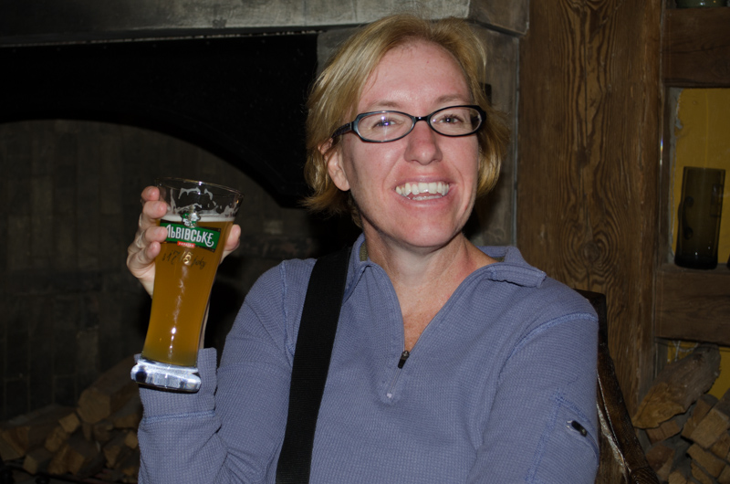 Enjoying a Beer at the Brewery Museum
