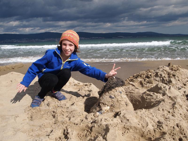 Playing on the Beach Sunny Beach