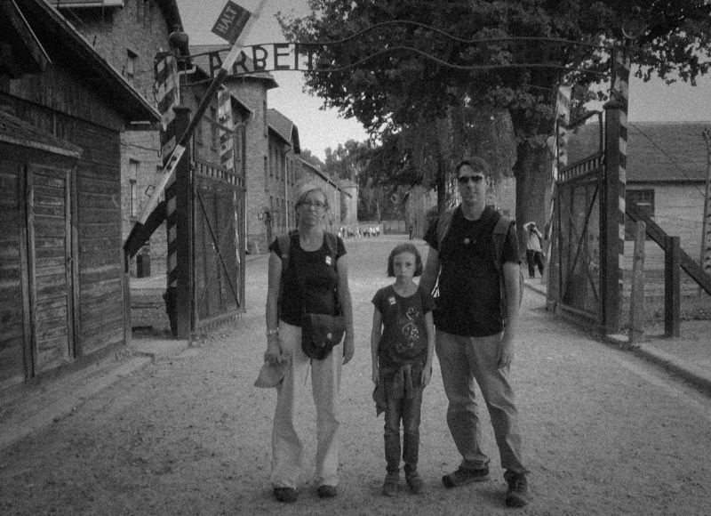 The three of us at Auschwitz