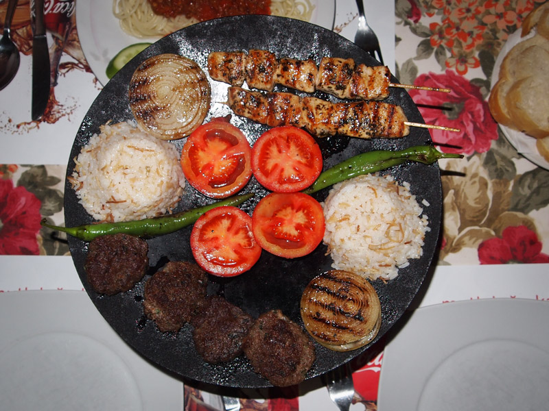 Köfte and Shish Kebab