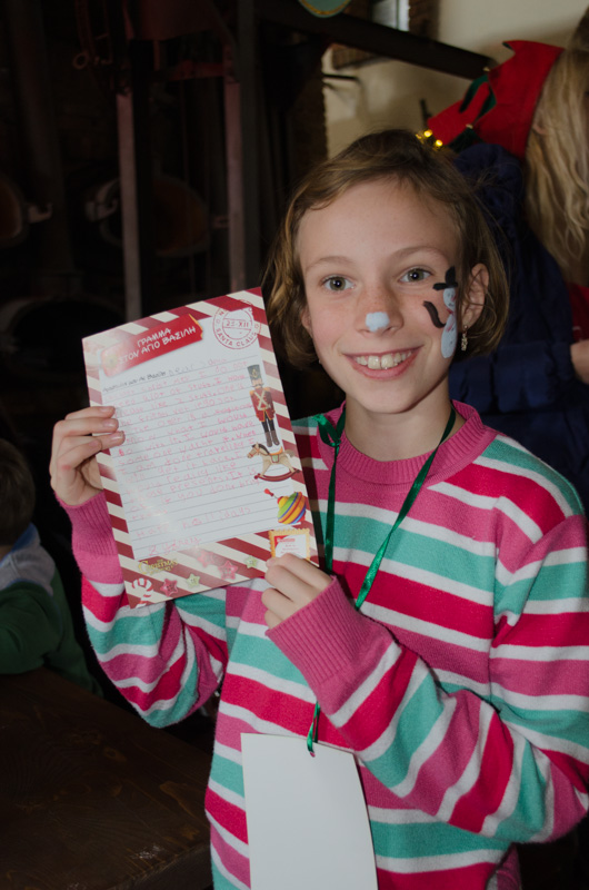 Sydney and her finished letter