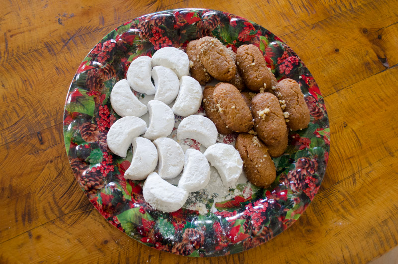 Traditional Greek Christmas cookies