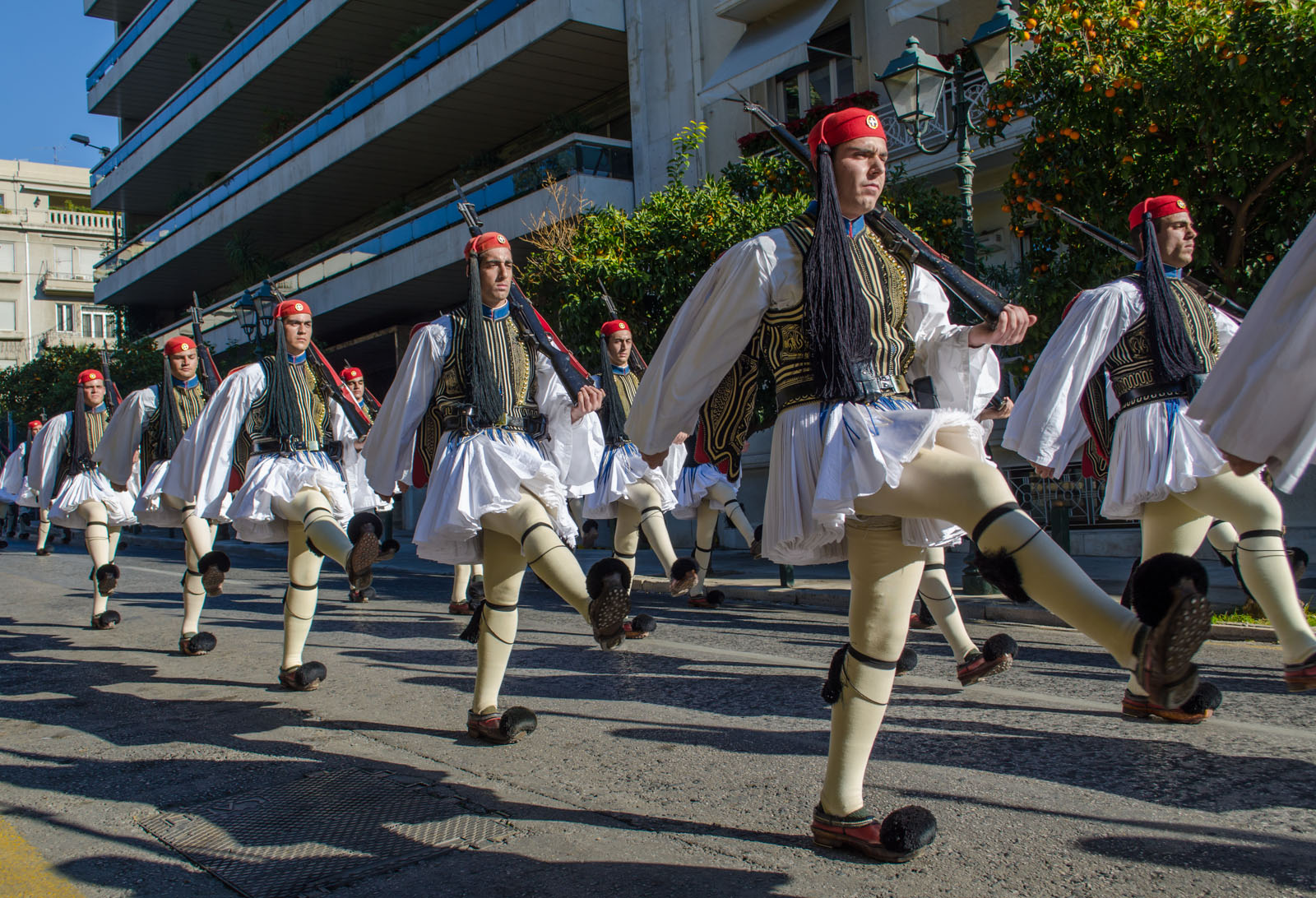 Greek Guard Marching