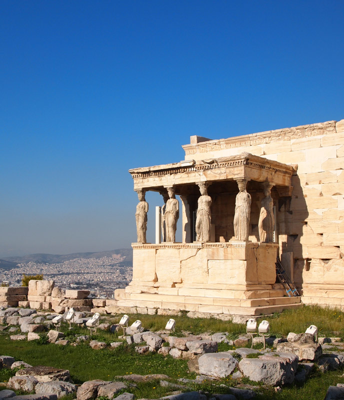 Erechtheion temple on the Acropolis