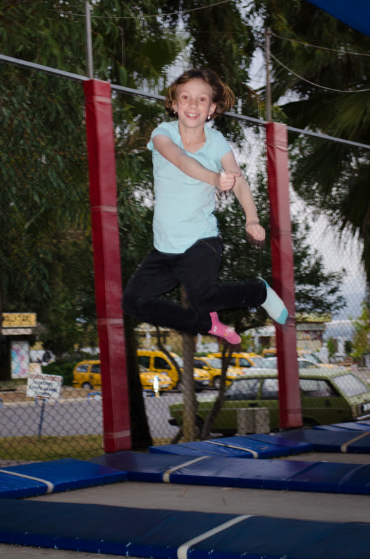 Sydney Jumping on the Trampoline
