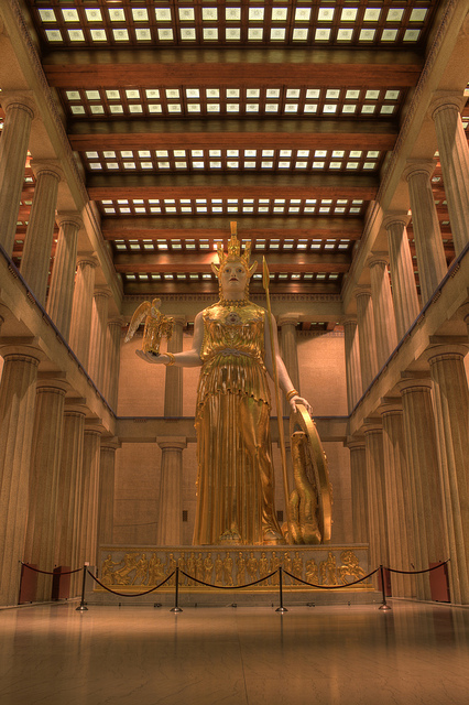 Replica of the Athena Parthenon.  Photo by Tncountryfan.