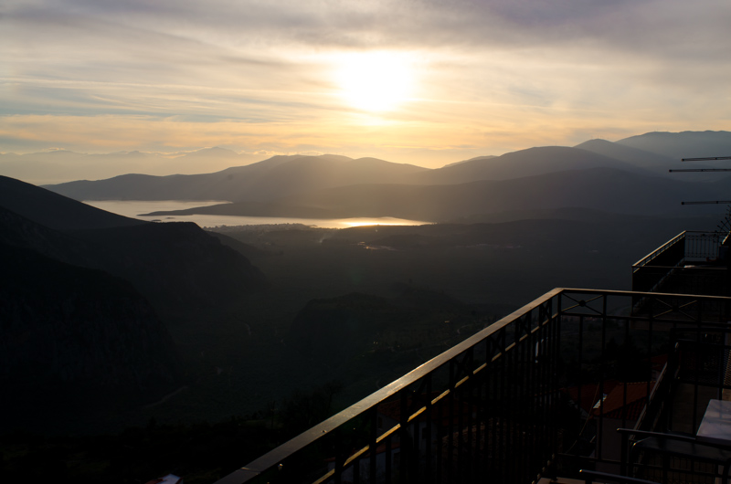 Sunset from Delphi