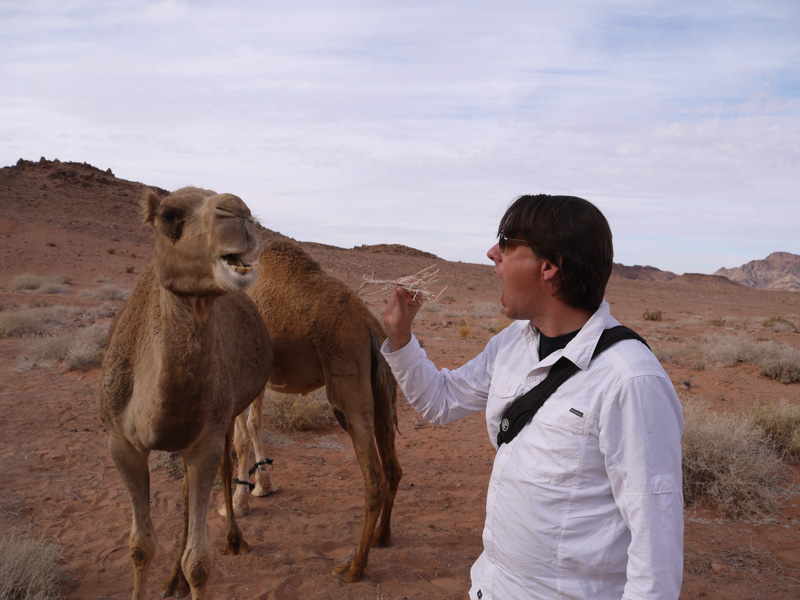 Jason teasing the camel