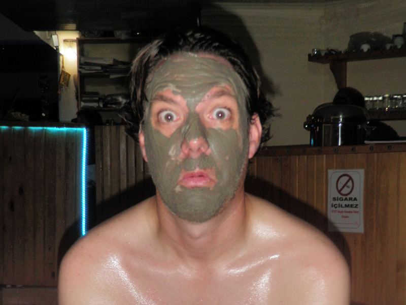 Jason and his mud mask