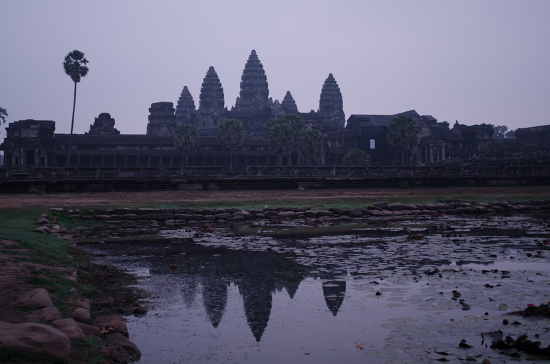Angkor Wat sunrise without a sun