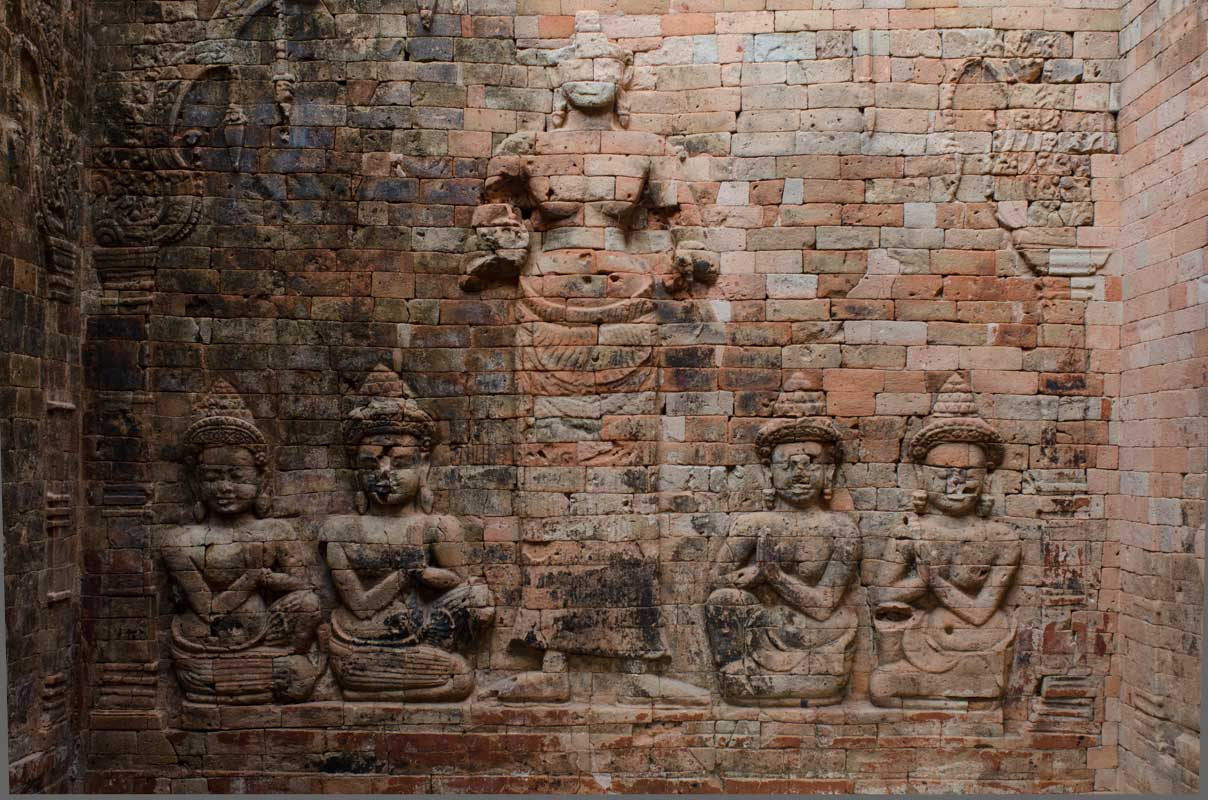 Bas-relief inside temple